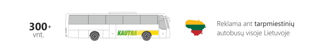 tarpmiestiniai autobusai, reklama ant autobusu, kautra autobusai