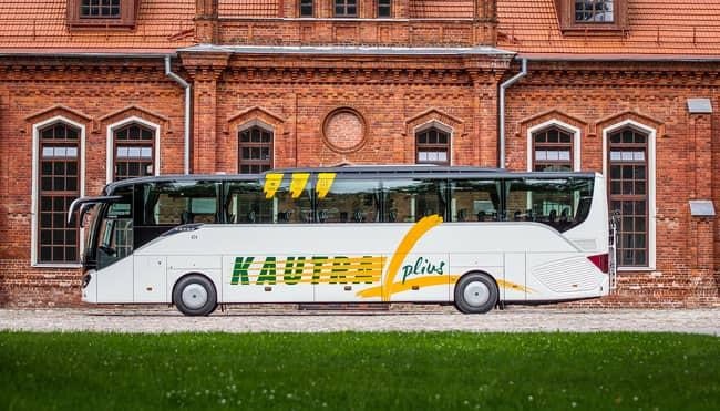 Kautra plius autobusas veža maršrutu Vilnius Druskininkai