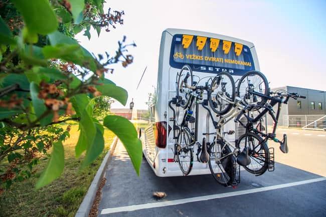 Vežkis dviratį nemokamai autobusu Vilnius Druskininkai